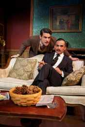 """The Mousetrap"" by Agatha Christie, at Shotgun Players in Berkeley, Calif. through Jan. 24. Pictured: Adam Magill and Alex Rodriguez. (Photo by Pak Han)"